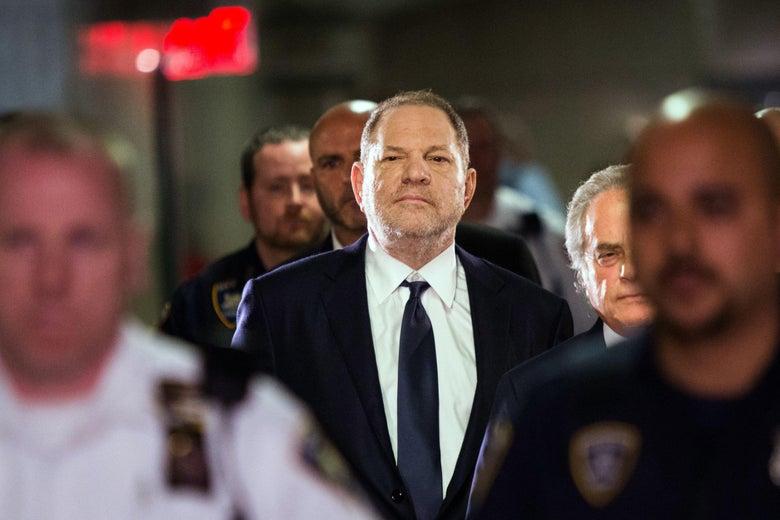Harvey Weinstein enters Manhattan criminal court June 5, 2018.