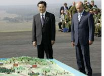 Chinese President Hu Jintao and Russian President Vladimir Putin. Click image to expand.