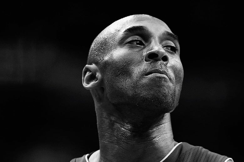 Kobe Bryant looks on against the Washington Wizards on December 2, 2015 in Washington, DC.