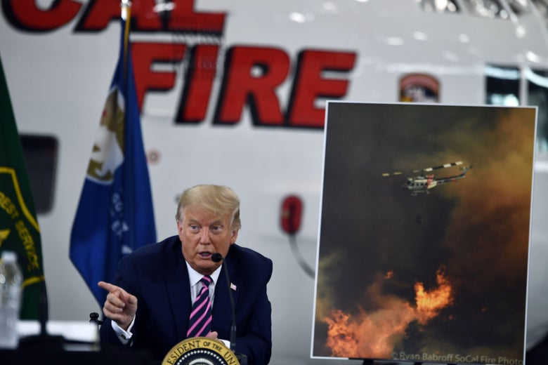 Trump Says Not to Worry About Climate Change as the West Burns thumbnail