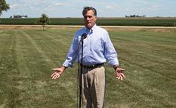 Former Massachusetts governor and Republican presidential hopeful Mitt Romney speaks in Iowa. Click image to expand.