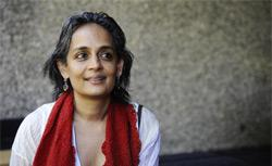 Indian booker prize-winning author and anti-globalisation activist Arundhati Roy. Click image to expand.