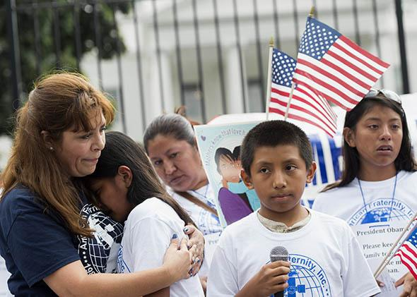 Pro-immigration reform protesters gather outside the White House on Sept. 8, 2014, in Washington, D.C.