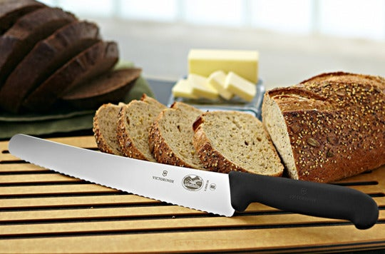 Victorinox 10.25-inch serrated bread knife.