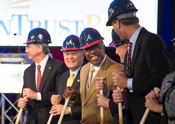Atlanta Braves groundbreaking at Suntrust Stadium, Cobb County, ,Atlanta Braves groundbreaking at Suntrust Stadium, Cobb County, Atlanta, GA