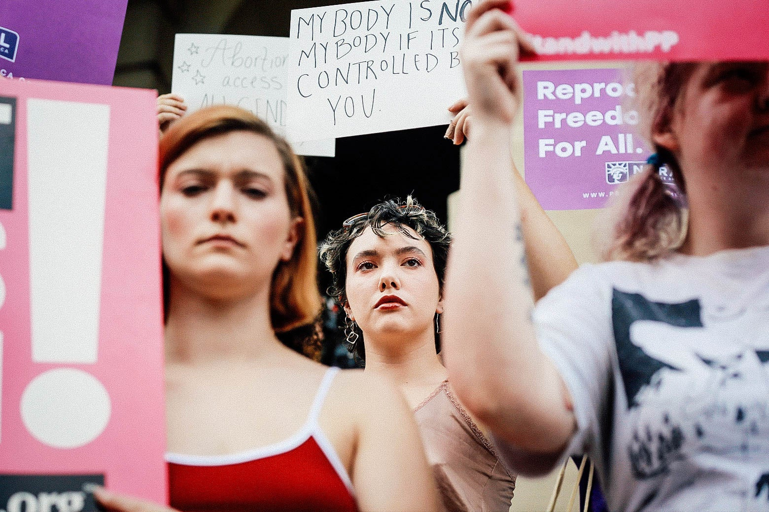 """Women protest Georgia's anti-abortion """"heartbeat"""" bill at the Georgia State Capitol in Atlanta on May 7."""