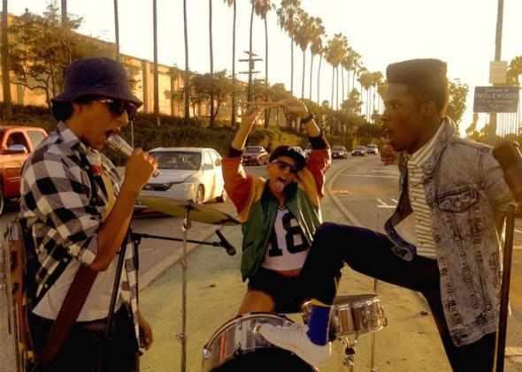 Jib (Tony Revolori), Diggy (Kiersey Clemons), and Malcolm (Shameik Moore) in Dope.
