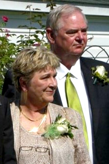john Noble with his wife, Carole, at their son's wedding in 2010.