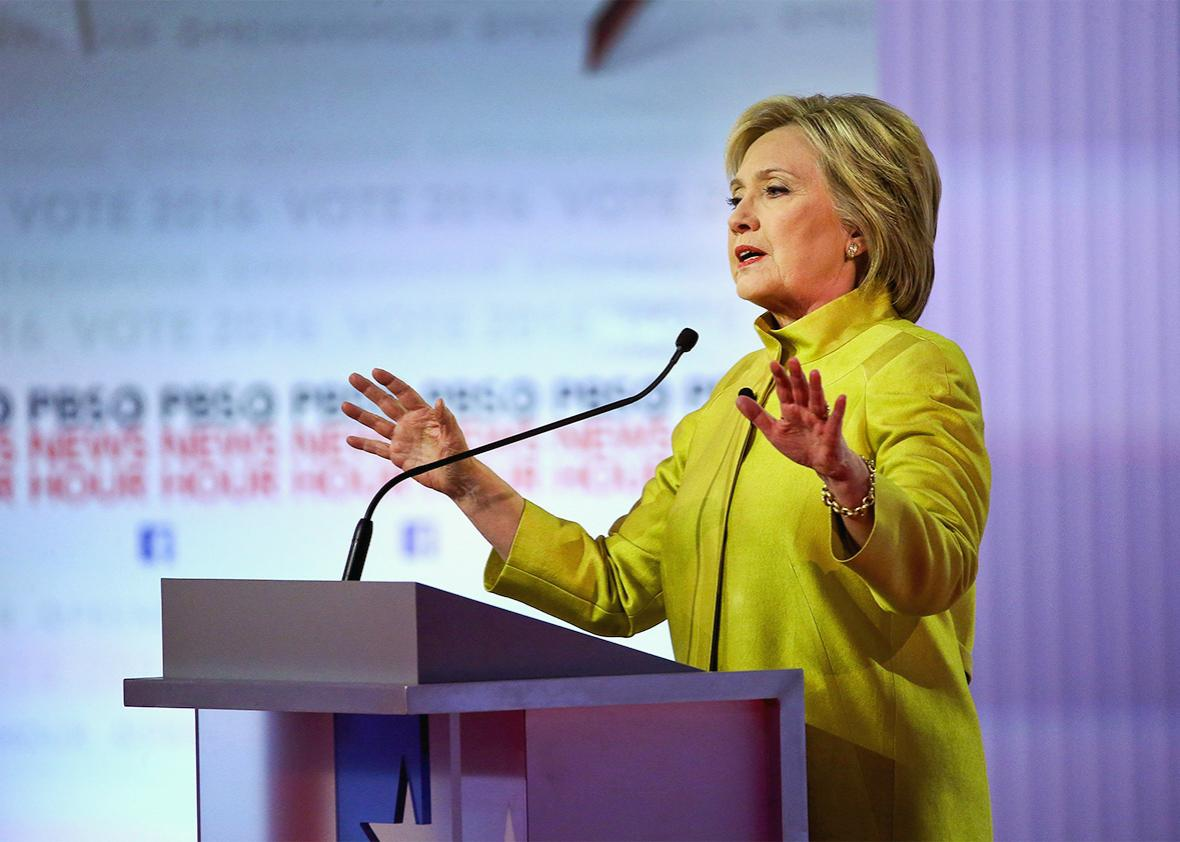 Dem Debate Hillary Clinton