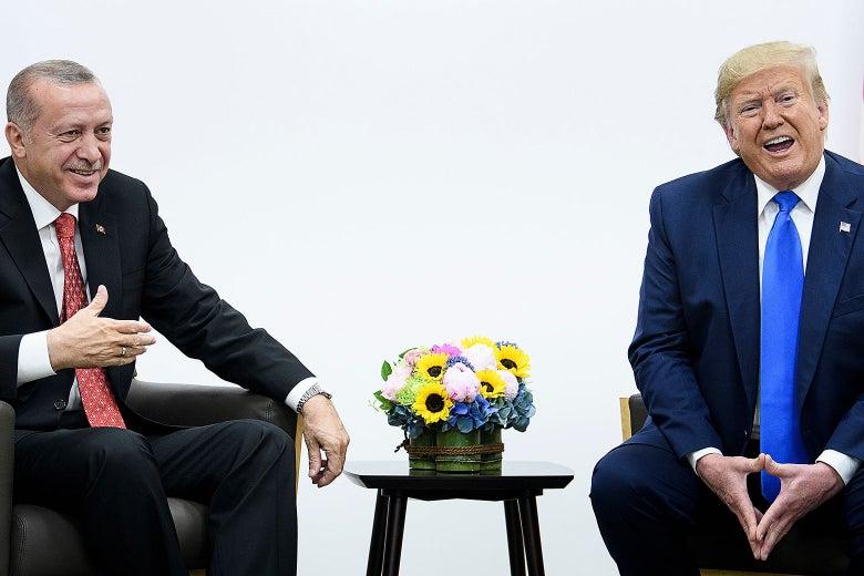 Recep Tayyip Erdogan and Donald Trump