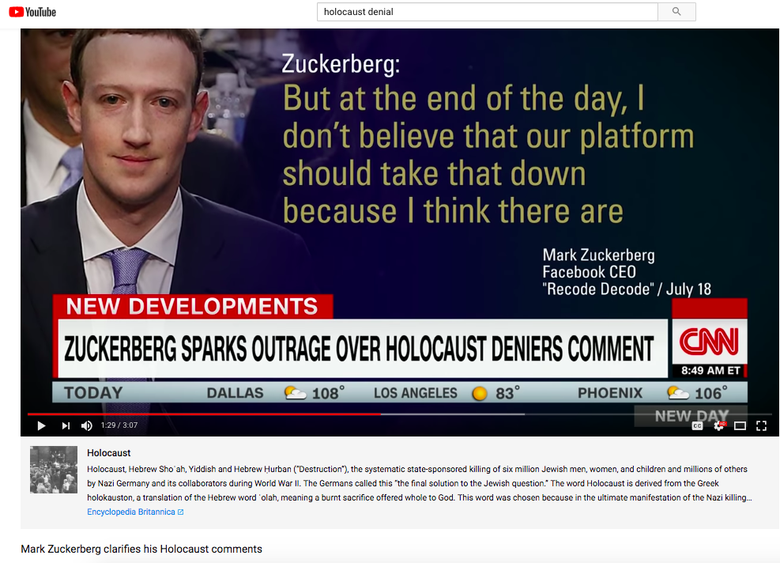 Youtube Is Adding New Information Boxes Under Some Videos That Attract Conspiracy Theorists