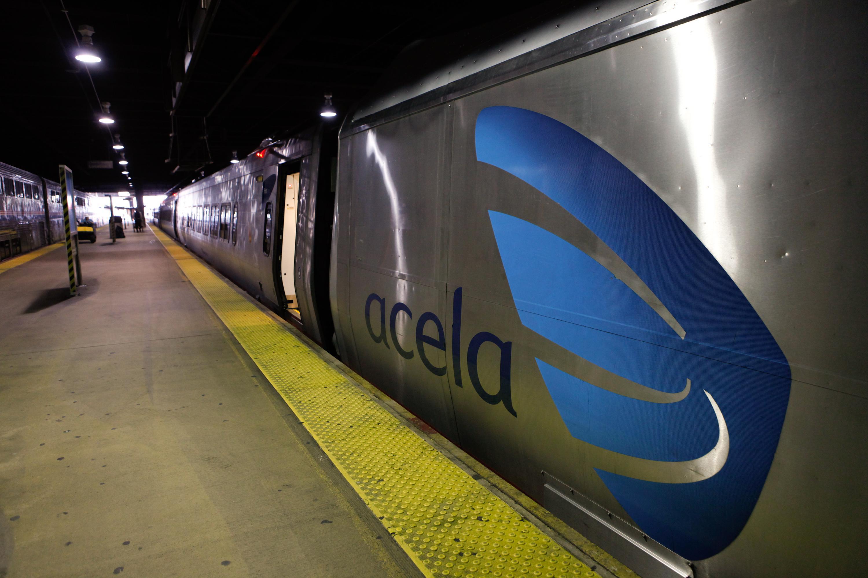 An Acela train