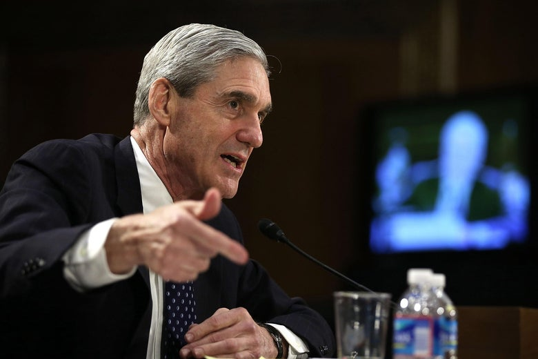 Robert Mueller testifies before the Senate Judiciary Committee in June 2013 on Capitol Hill in Washington, DC.