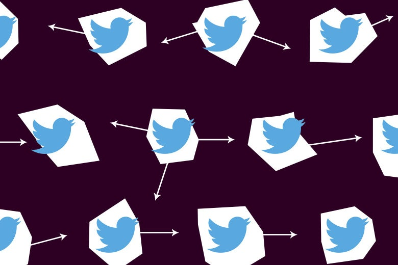 Photo illustration of decentralized Twitter networks