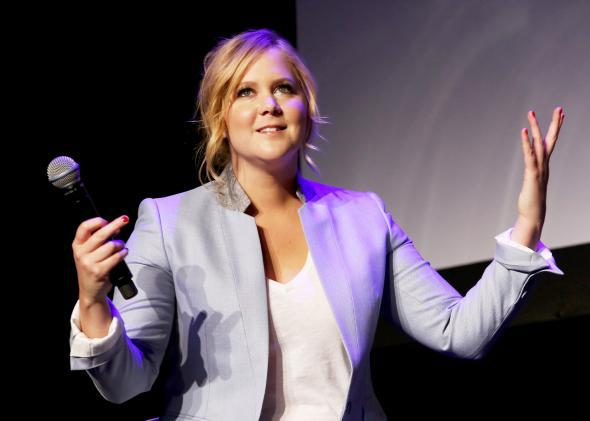 "Amy Schumer, recently described by New York magazine as ""a comet streaking gloriously across the Zeitgeist,"" speaks during the 2015 Tribeca Film Festival on April 19, 2015."