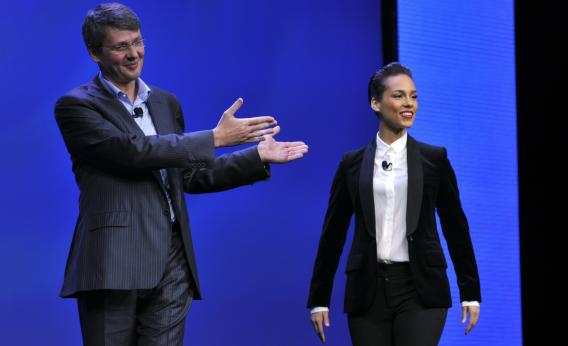 BlackBerry CEO Thorsten Heins introduces the company's new global creative director, who would never dream of tweeting from an iPhone but sometimes gets hacked by a Drake-obsessed iPhone tweeter.