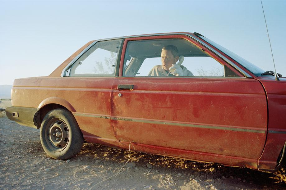 Thilde Jensen, Craig in His Car and Bed for 8 Years. Portal, Ariz., 2011 courtesy the Center for Photography at Woodstock