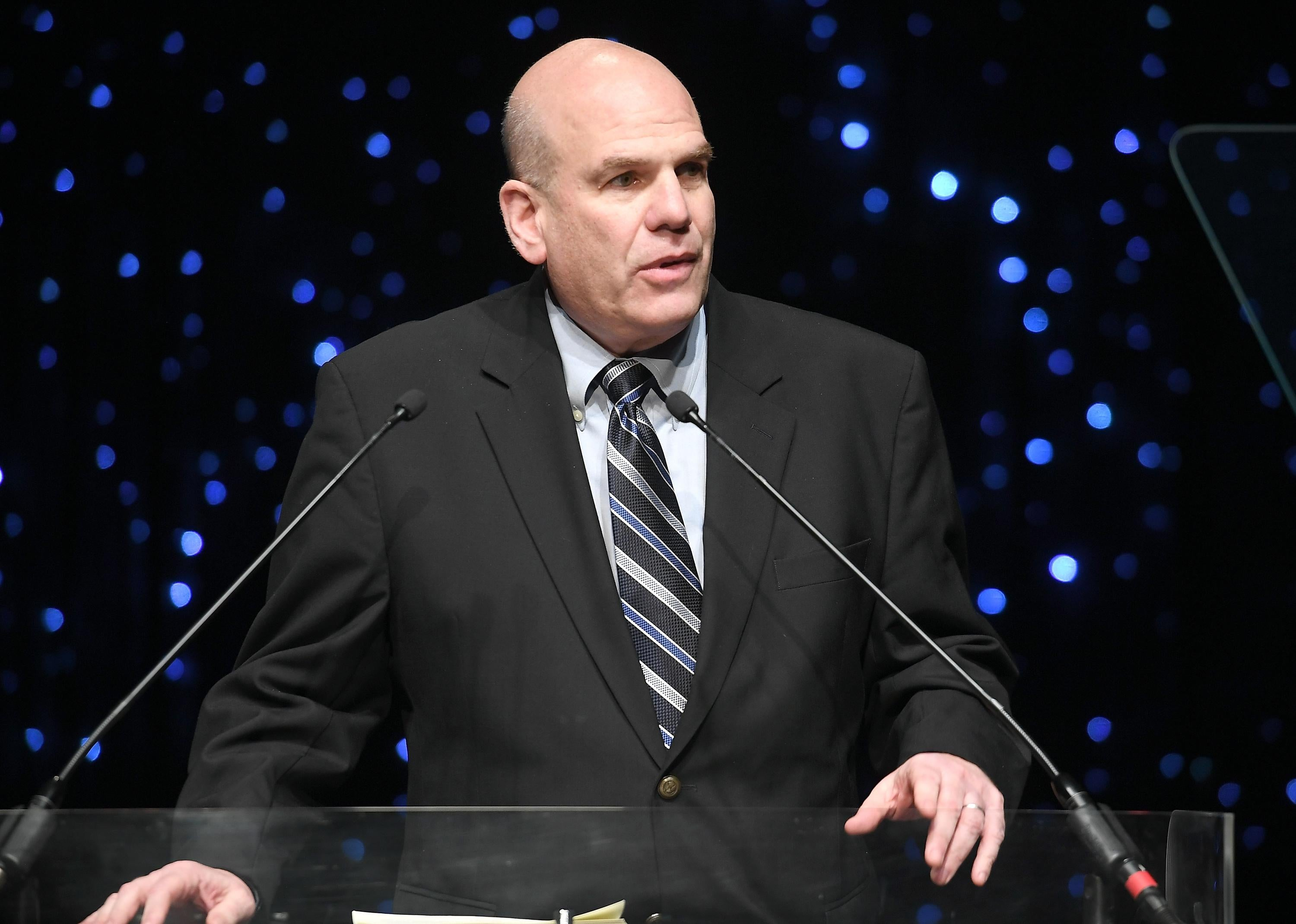 David Simon speaks onstage during 69th Writers Guild Awards.