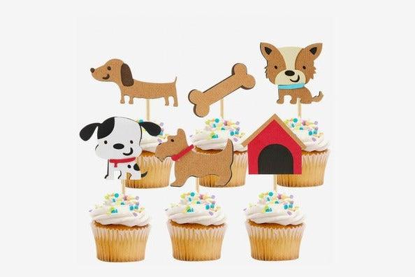 iMagitek Dog Cupcake Toppers