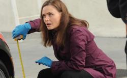 Emily Deschanel as Temperance Brennan in Bones.