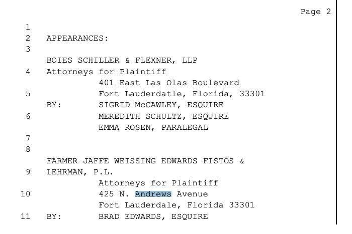 a screenshot of the deposition