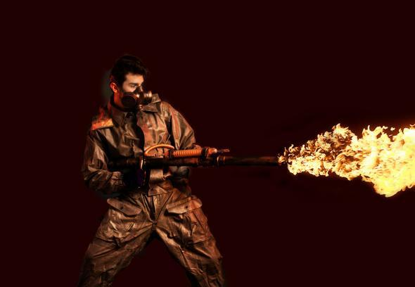 Flamethrower ban in Troy, Michigan? XM42 commercial