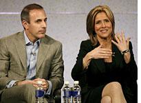 """Matt Lauer and Meredith Vieira of """"Today."""" Click image to expand."""