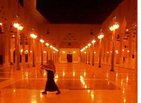 A man heading to evening prayers at a mosque in Riyadh. Click image to expand.