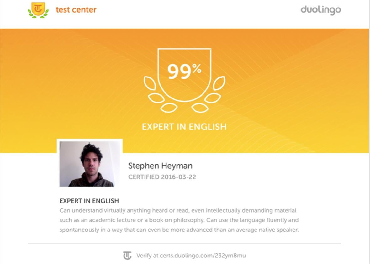 dualingo expert in english.