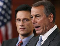 Reps. Eric Cantor and John Boehner. Click image to expand.