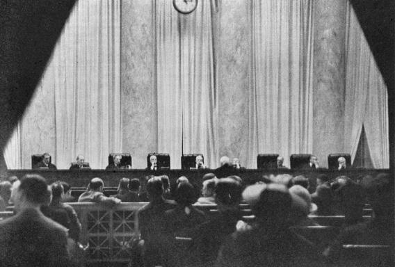 Farewell appearance for these nine as justice Willis Van Devanter will retire.  The Supreme Court of the United States.  Washington DC May 1937