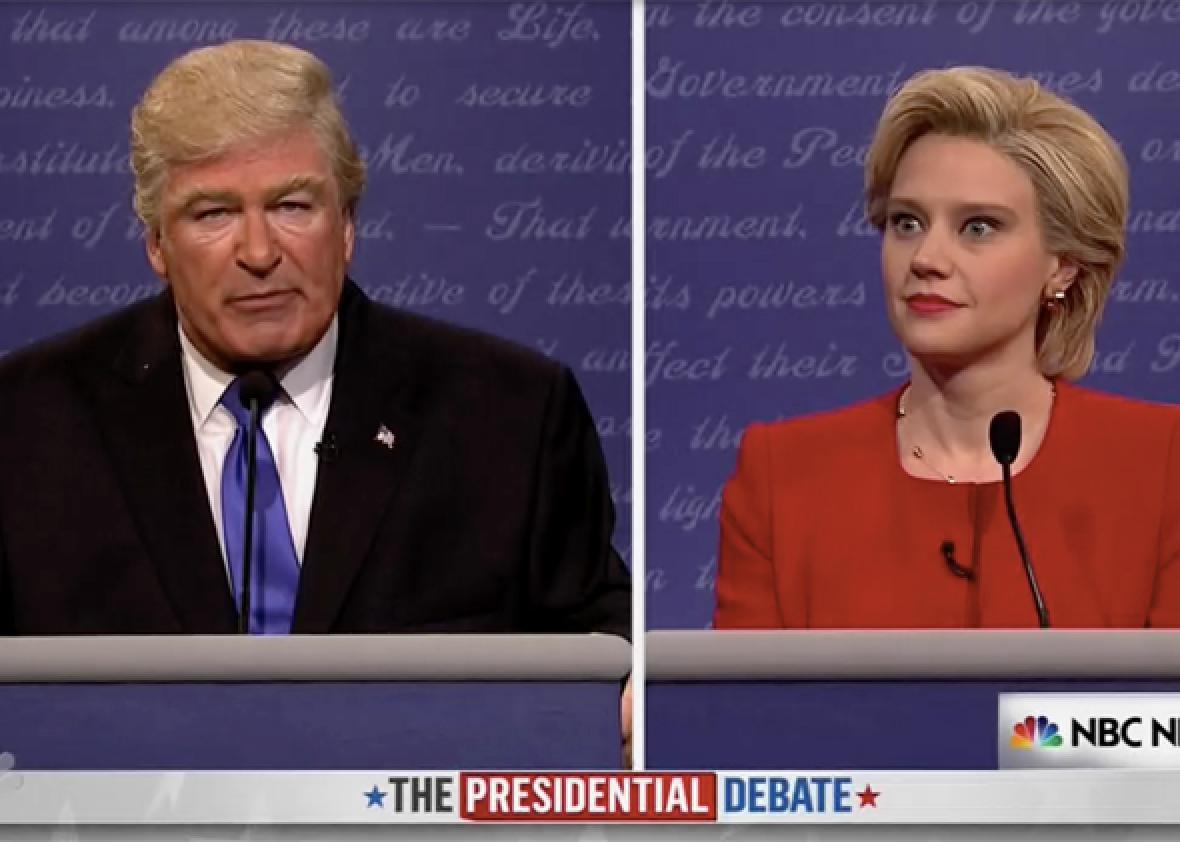 Watch Trump and Clinton debate in the SNL season opener.