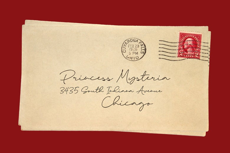 An envelope addressed to Princess Mysteria.