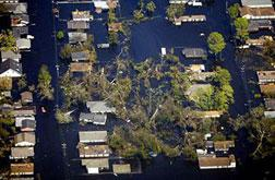 New Orleans in 2005 after Katrina hit.
