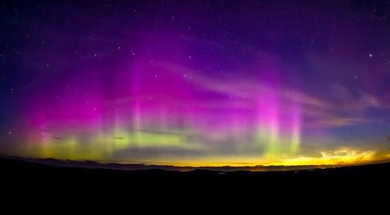 noctilucent clouds and aurorae