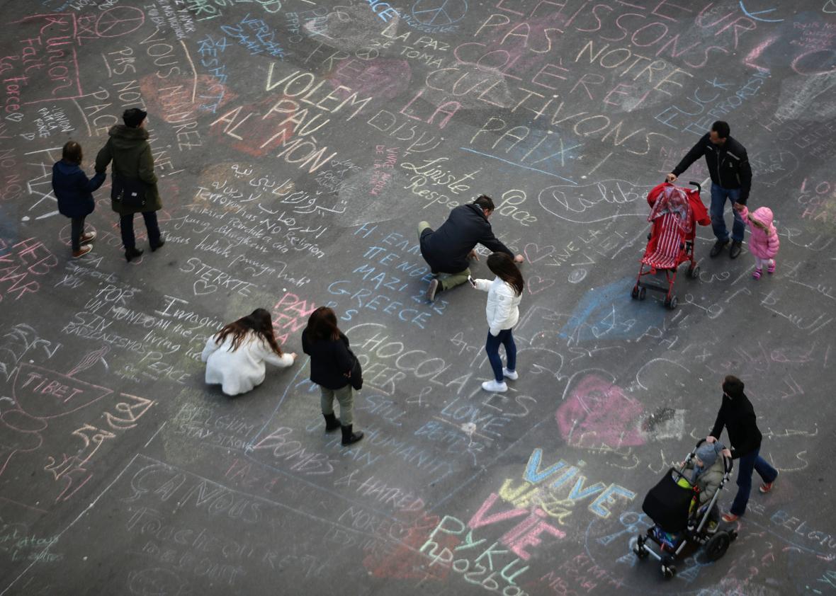 Brussels sidewalk chalk