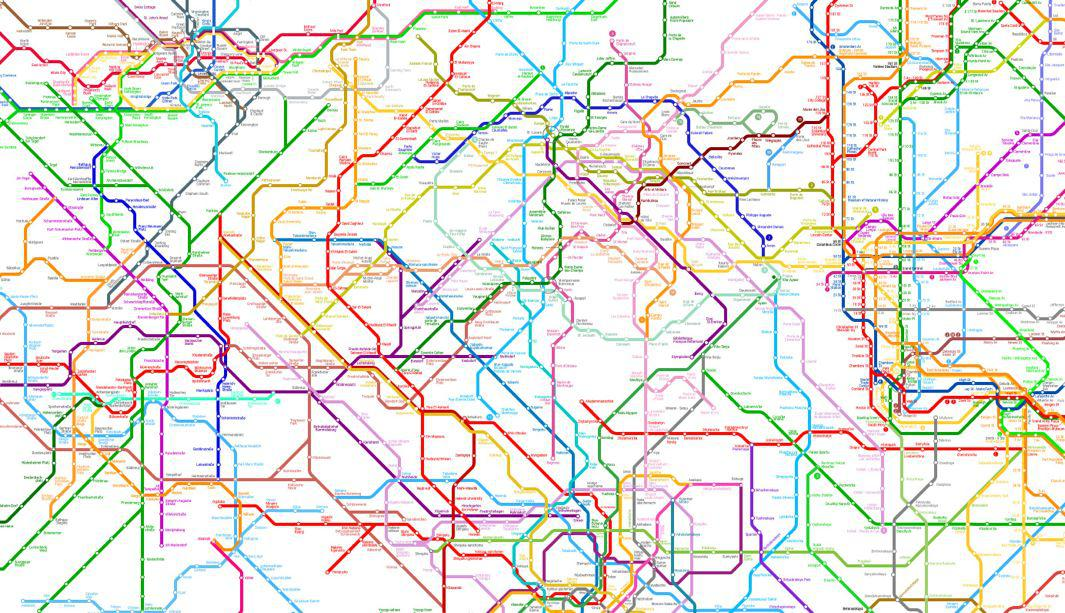 The World Metro Map Links 214 Cities On Five Continents