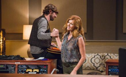 Michael Huisman and Connie Britton in ABC's Nashville.