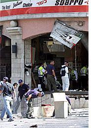 Scene of Jerusalem suicide bombing