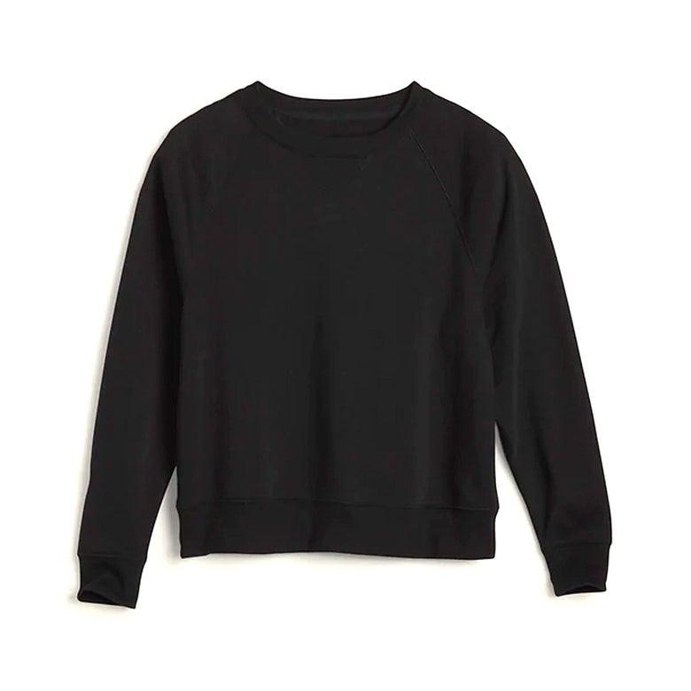 A black sweatshirt.
