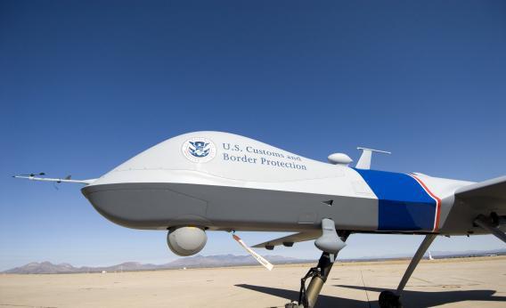 An MQ-9 Predator B drone in Arizona.