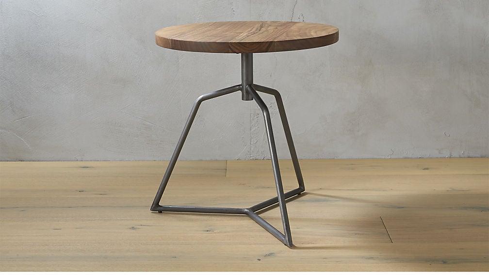 CB2 Dot Acacia Side Table Stool