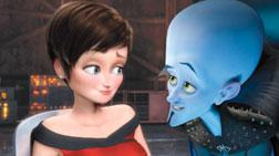 """Tiny Fey as Roxanne and Will Ferrell as Megamind in Dreamwork's animated film """"Megamind."""""""