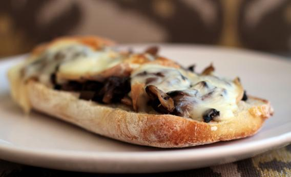 Grilled Taleggio Sandwich With Sautéed Mushrooms