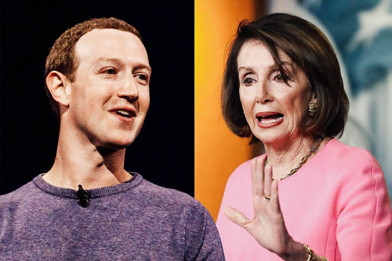 Mark Zuckerberg and Nancy Pelosi.