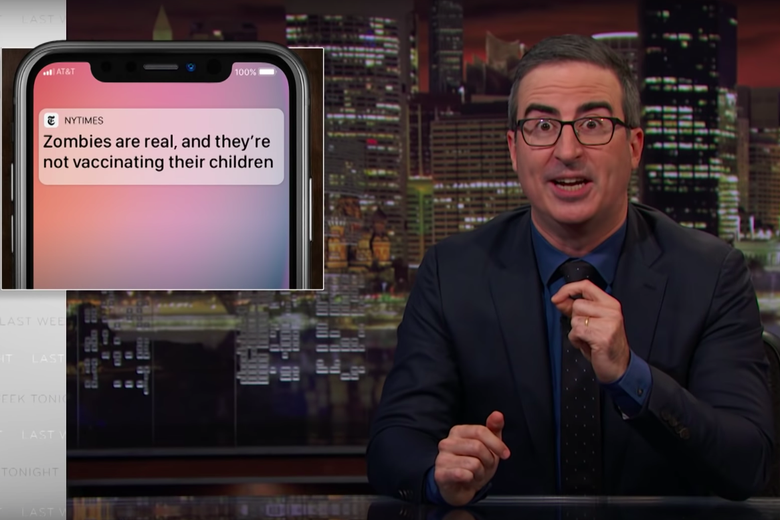 John Oliver Puts His Foot Down on Pointless Push Notifications