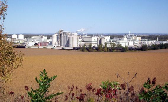 Cargill Inc.'s corn milling complex, which turns more than 100 million bushels of corn every year in food, feed, fuels and an increasing array of manufactured products from biodegradable plastics to industrial enzymes.