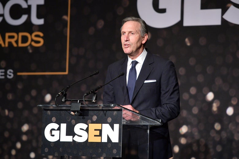 Howard Schultz attends the GLSEN Respect Awards at the Beverly Wilshire Four Seasons Hotel in Beverly Hills, California.