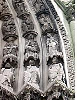 The west portal of Riverside Church