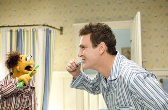 "Still of Jason Segel in ""The Muppets."""